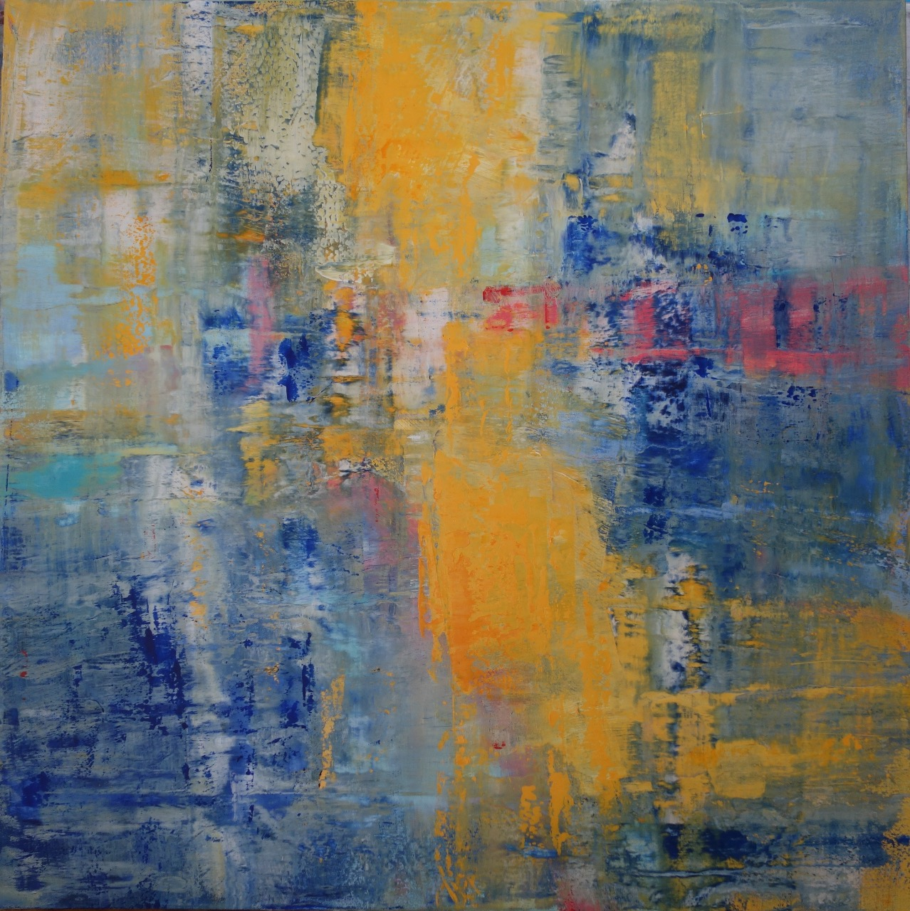po dešti, 100/100 cm, 2015, akryl na plátně