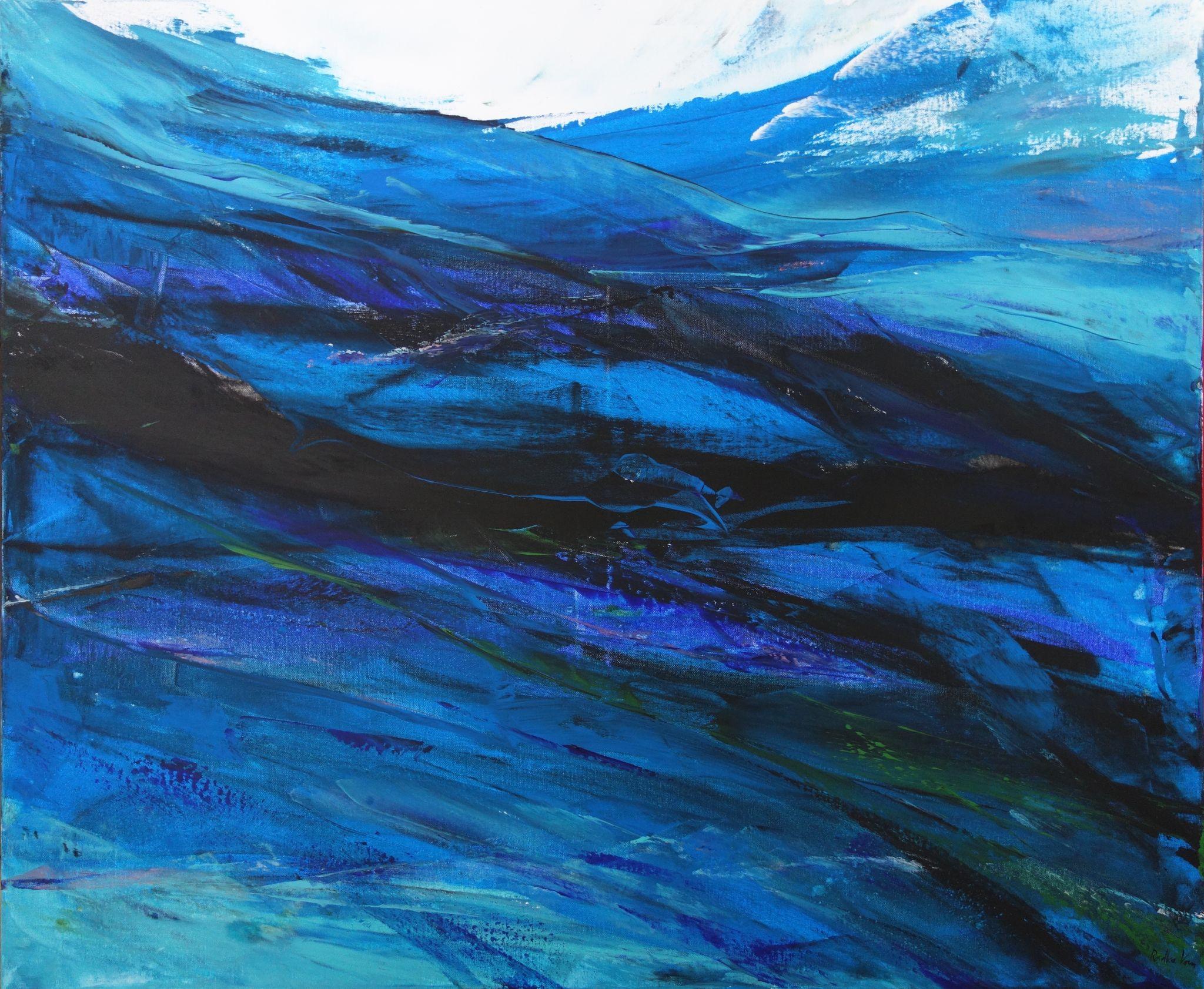 zvolna, 100/120 cm, 2015, akryl na plátně