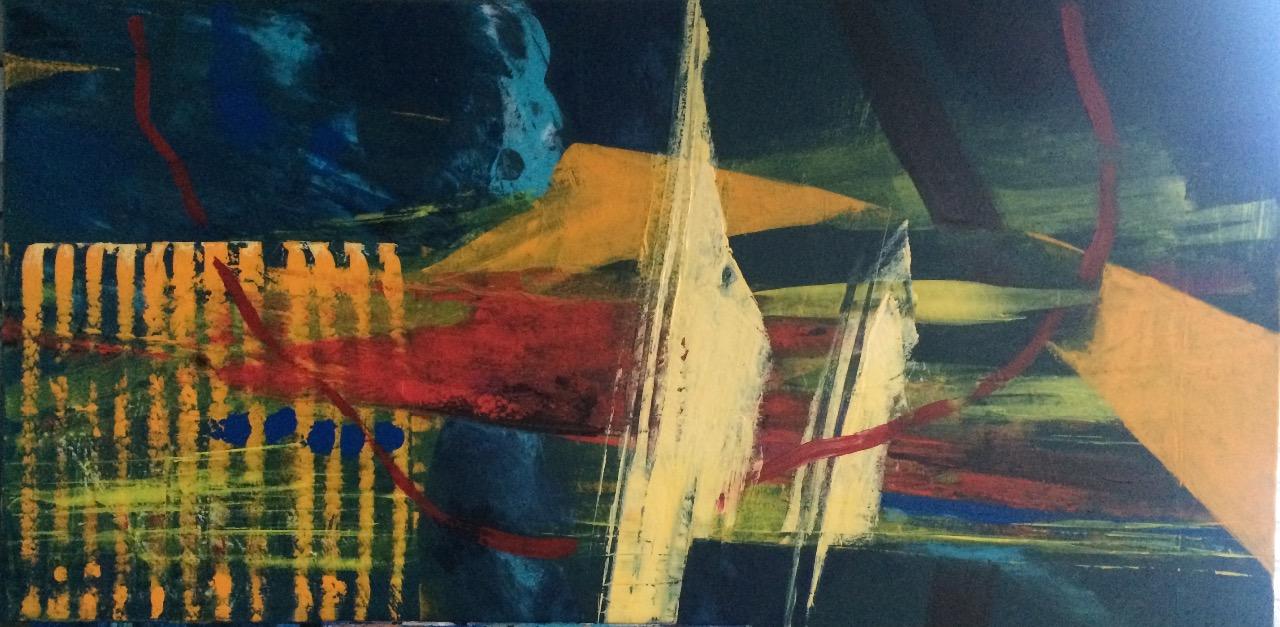 ve snech, 70/120 cm, 2016, akryl na plátně