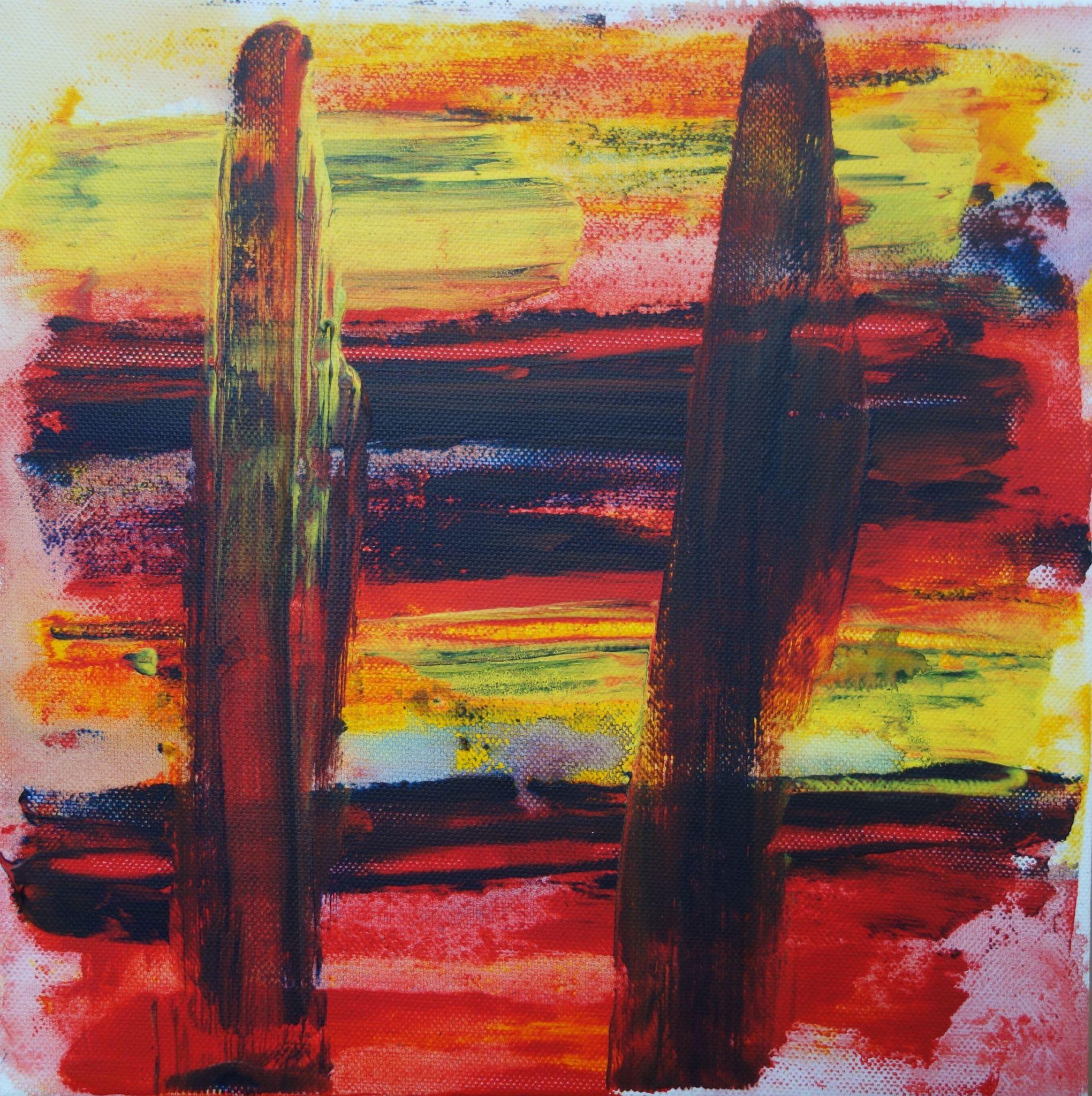 30 /30 cm, 2015, akryl na plátně