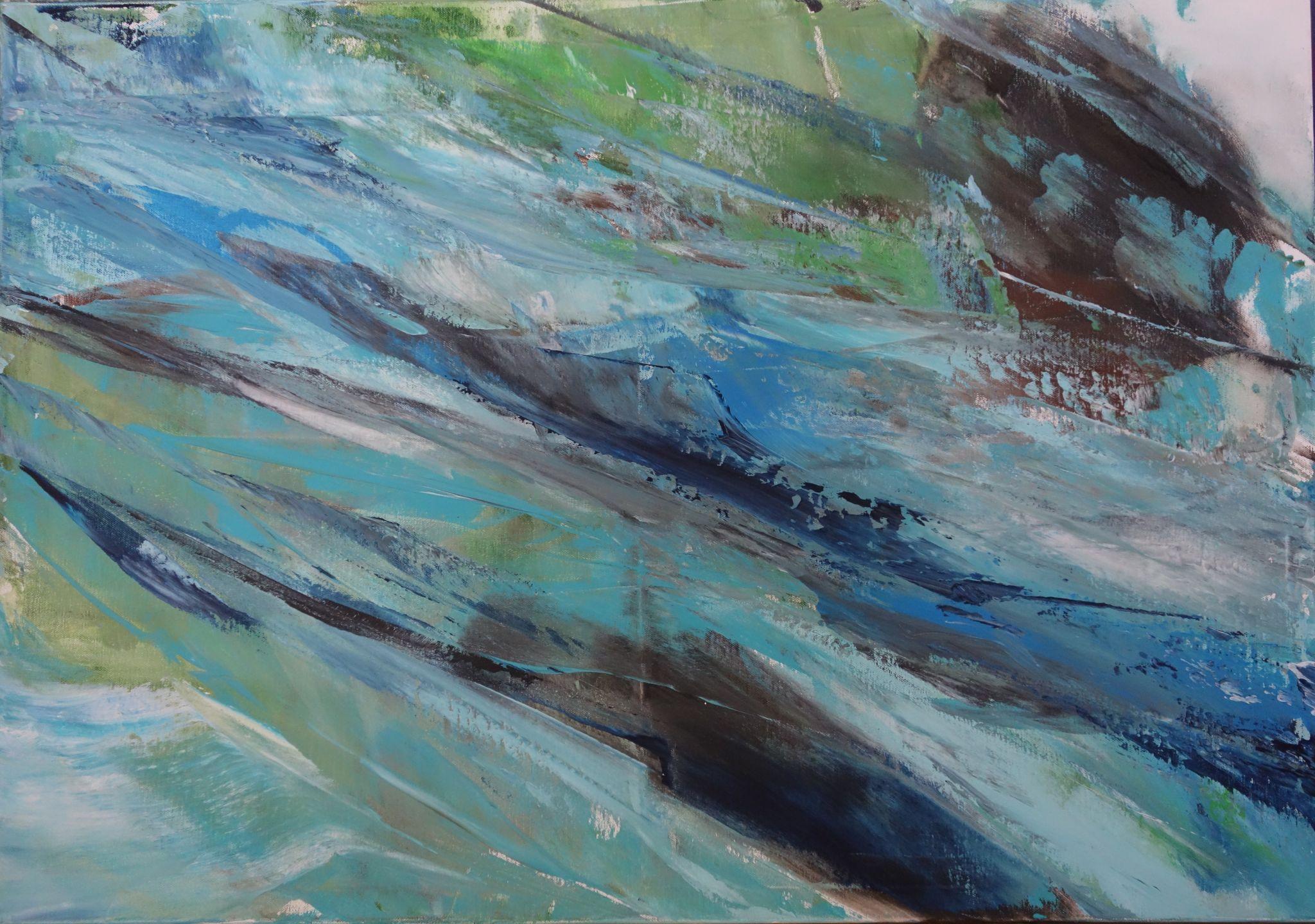 rozvodněná, 70/100 cm, 2015, akryl na plátně