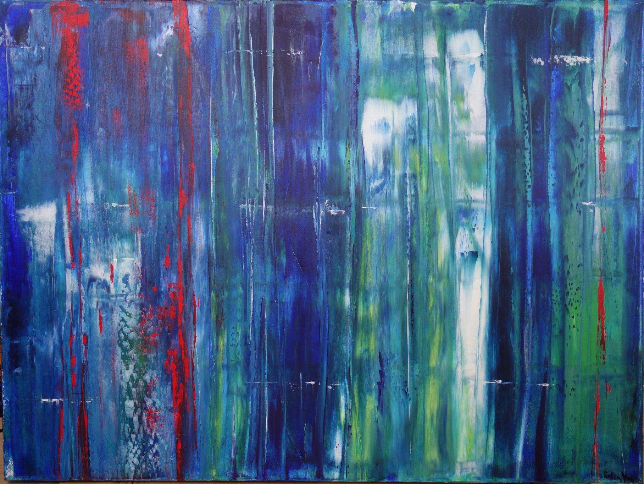 za oponou, 100/120 cm, 2016, akryl na plátně