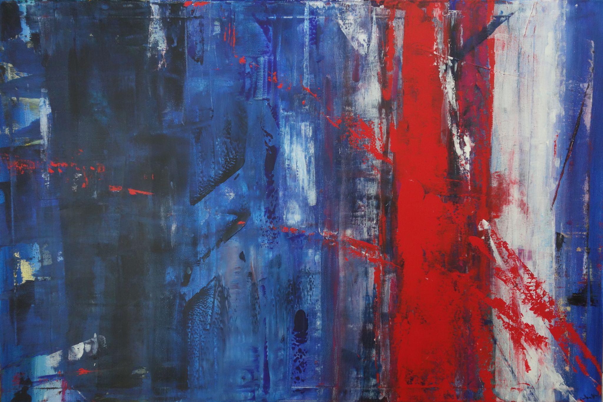 vnitřní les, 100/150 cm, 2014, akryl na plátně