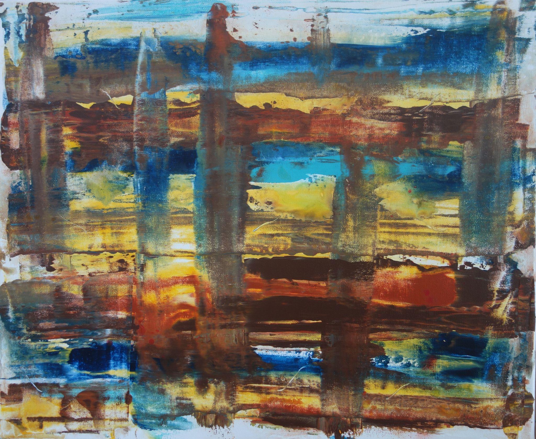 něco s vodou, 50/60 cm, 2015, akryl na plátně