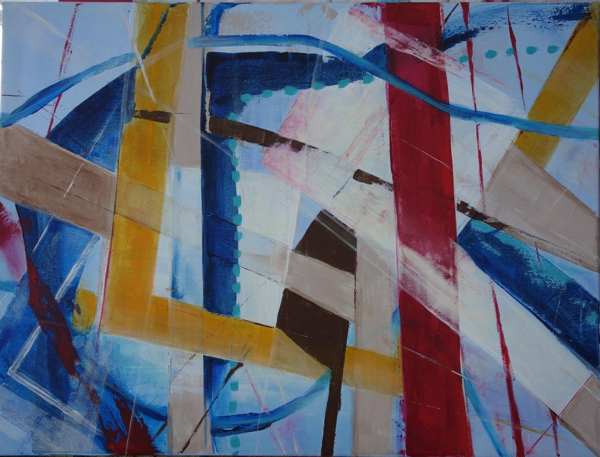 mimochodem, 60/80 cm, 2016, akryl na plátně