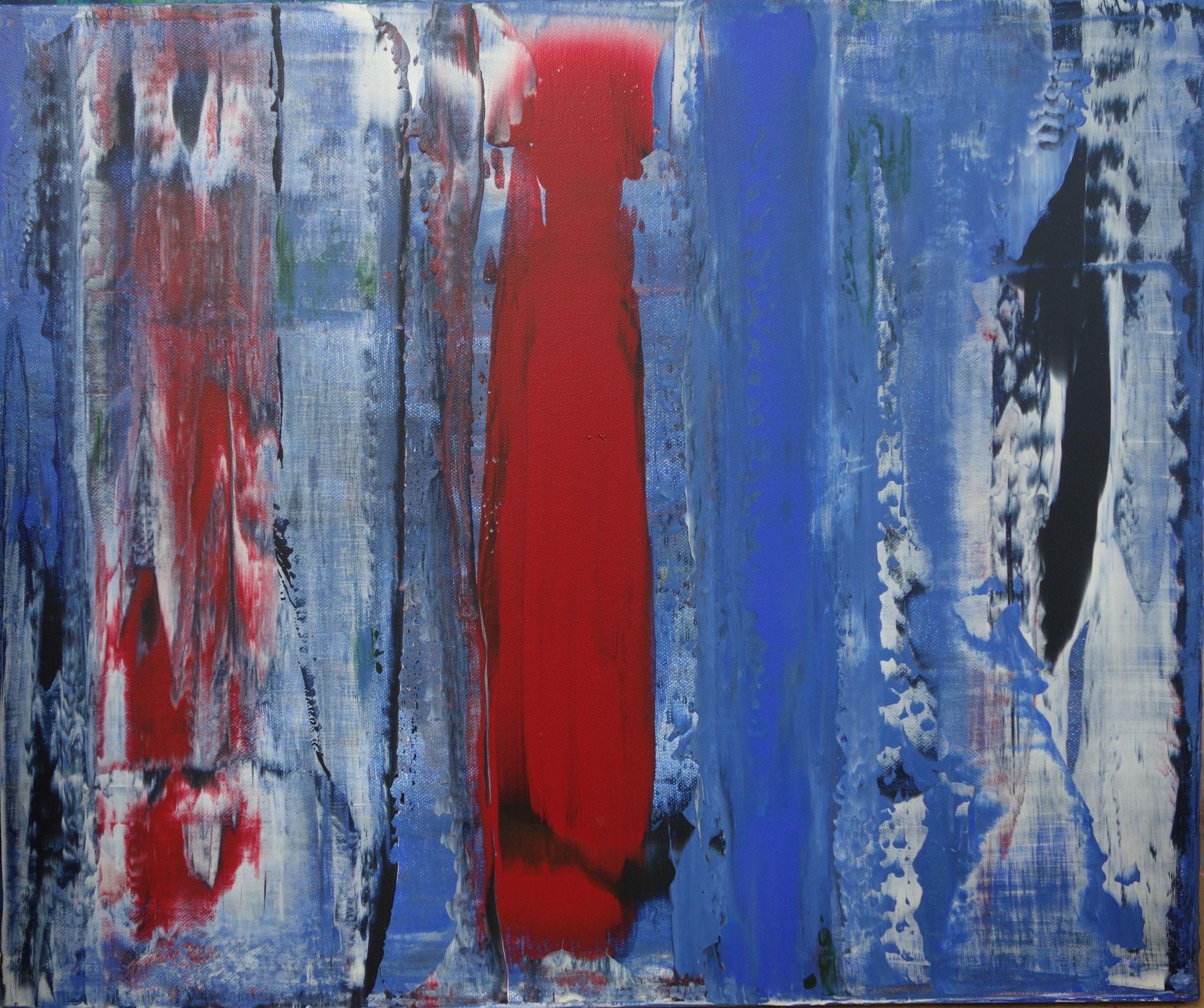 osamělý, 50/60 cm, 2015, akryl na plátně