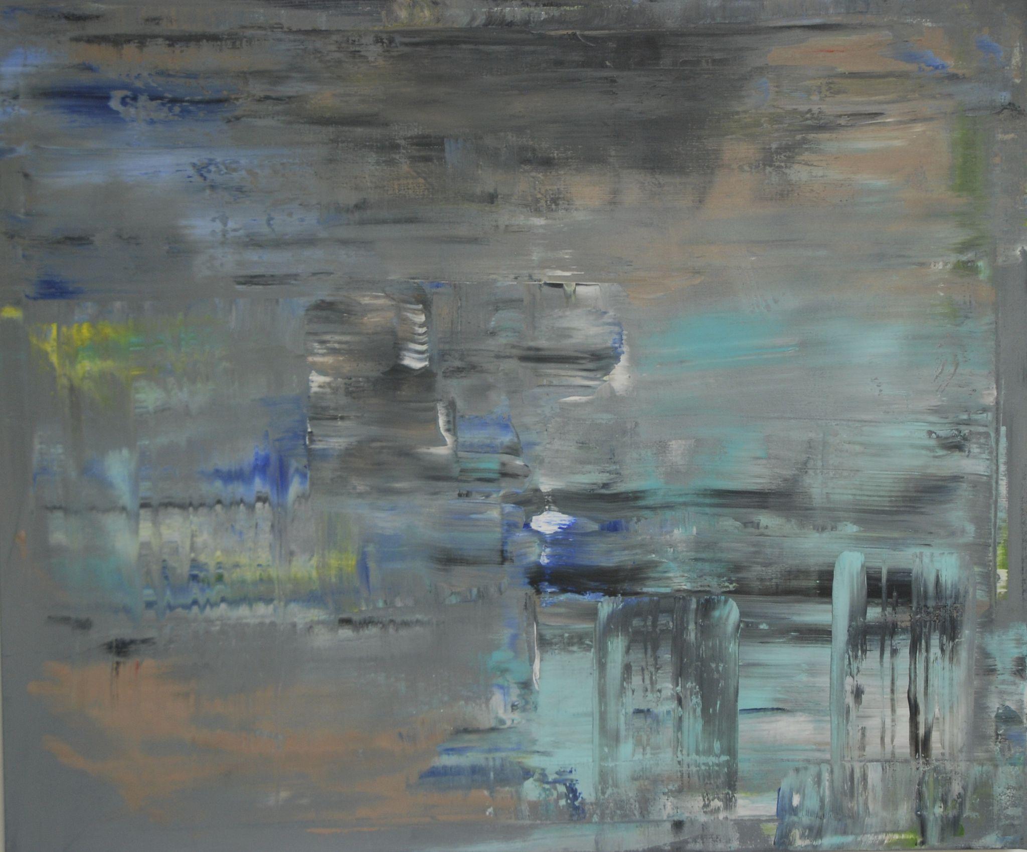 zimní, 100/120 cm, 2014, akryl na plátně