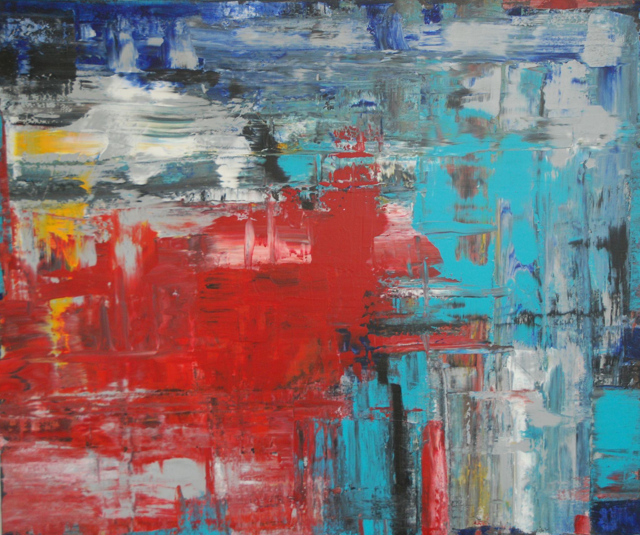 souboj, 100/120 cm, 2014, akryl na plátně