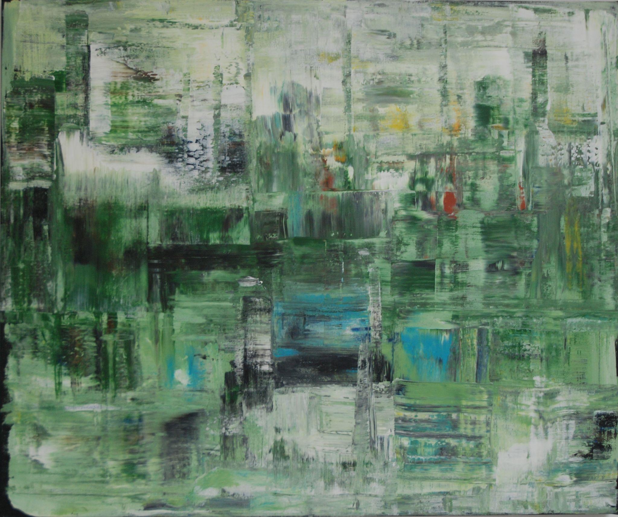 v pralese, 100/120 cm, 2014, akryl na plátně