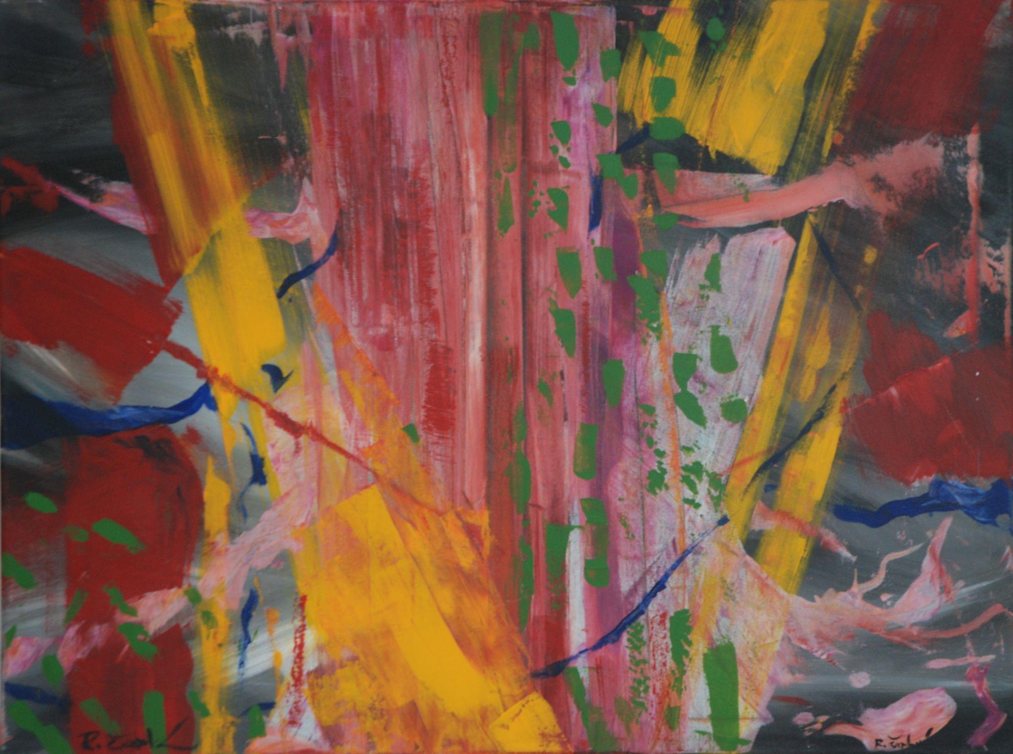 ve stromě, 60/80 cm, 2013, akryl na plátně