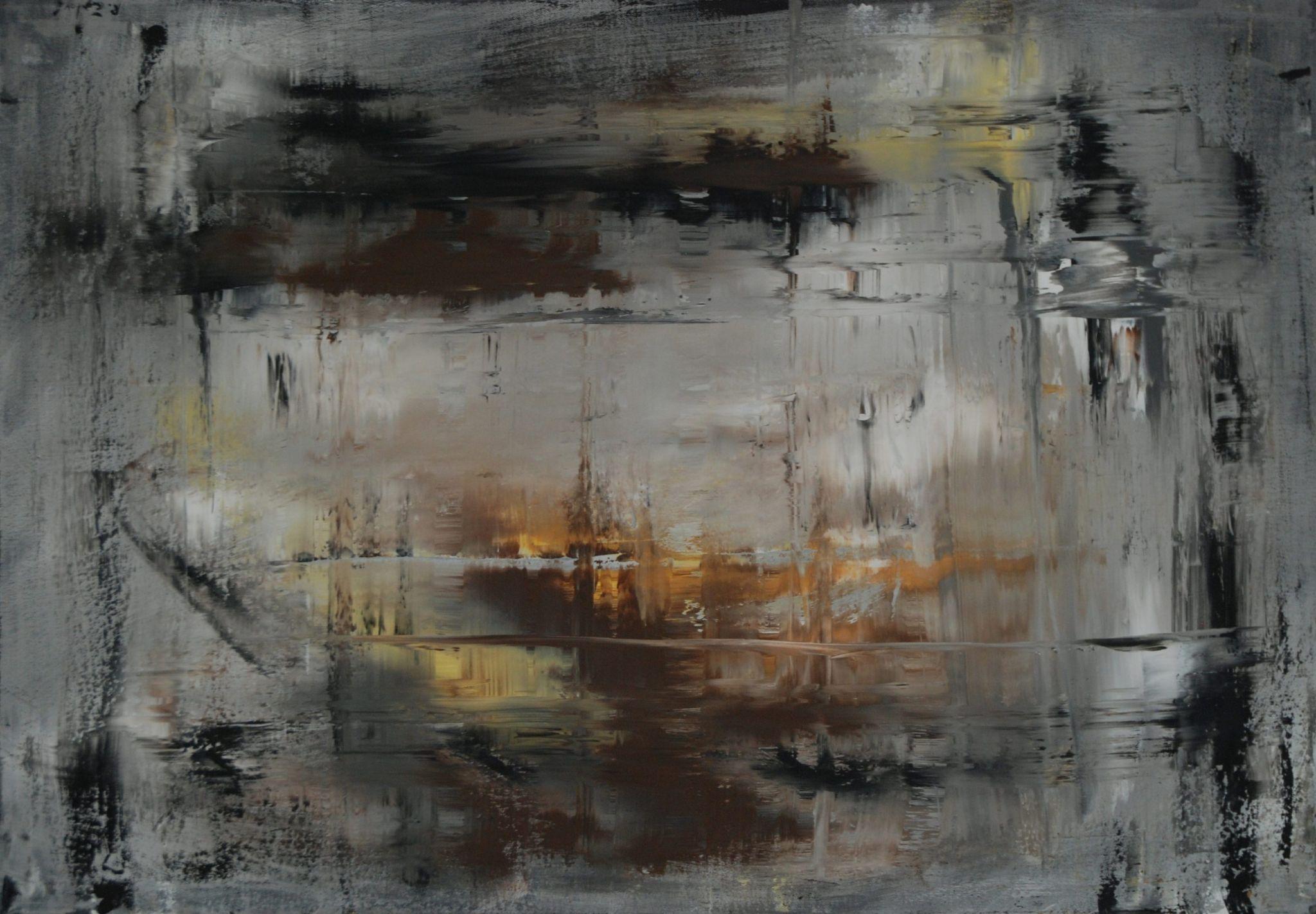 laguna, 70/100 cm, 2013, akryl na plátně