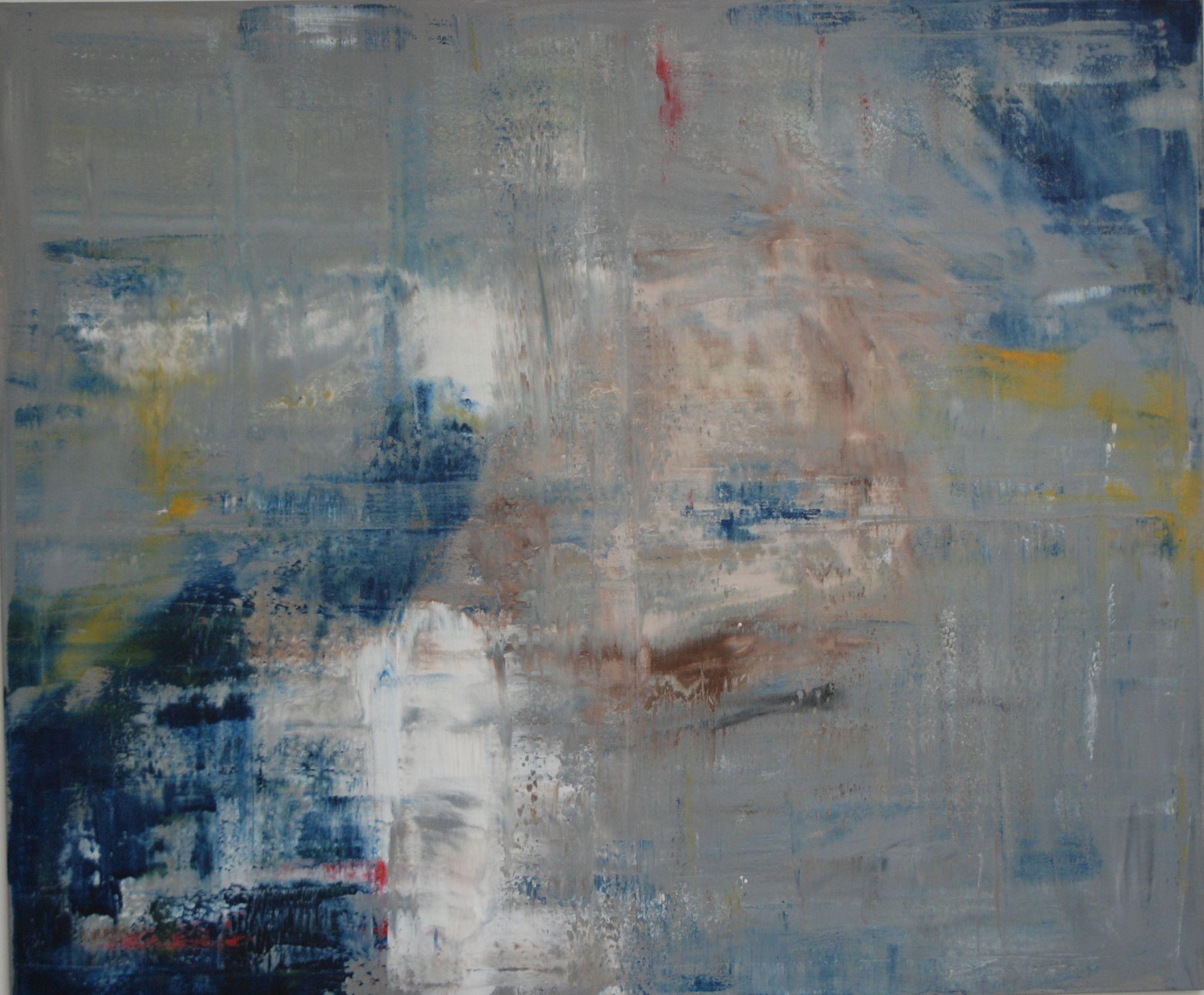 vzedmutý prach, 100/120 cm, 2014, akryl na plátně