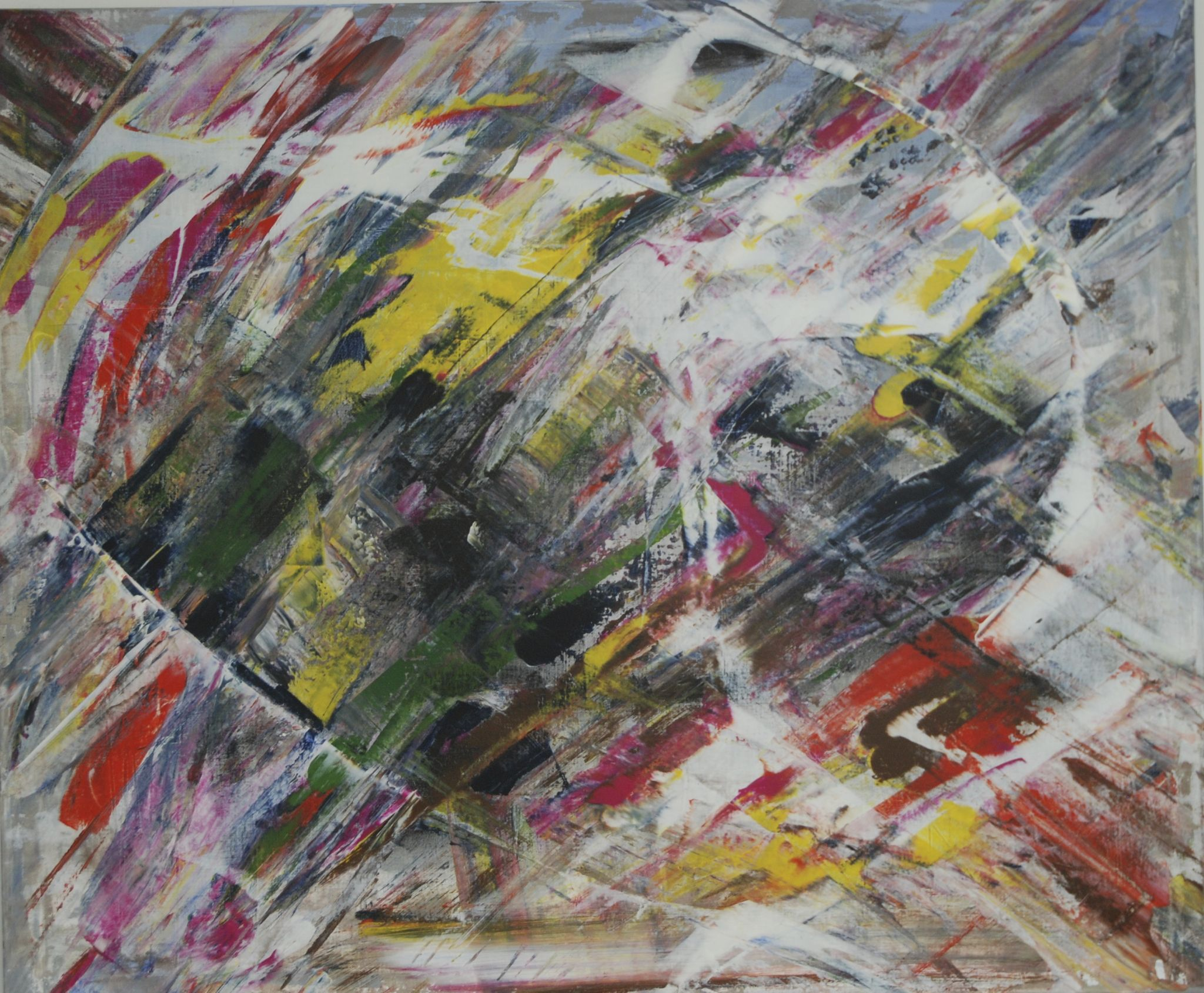 epicentrum, 100/120 cm, 2014, akryl na plátně