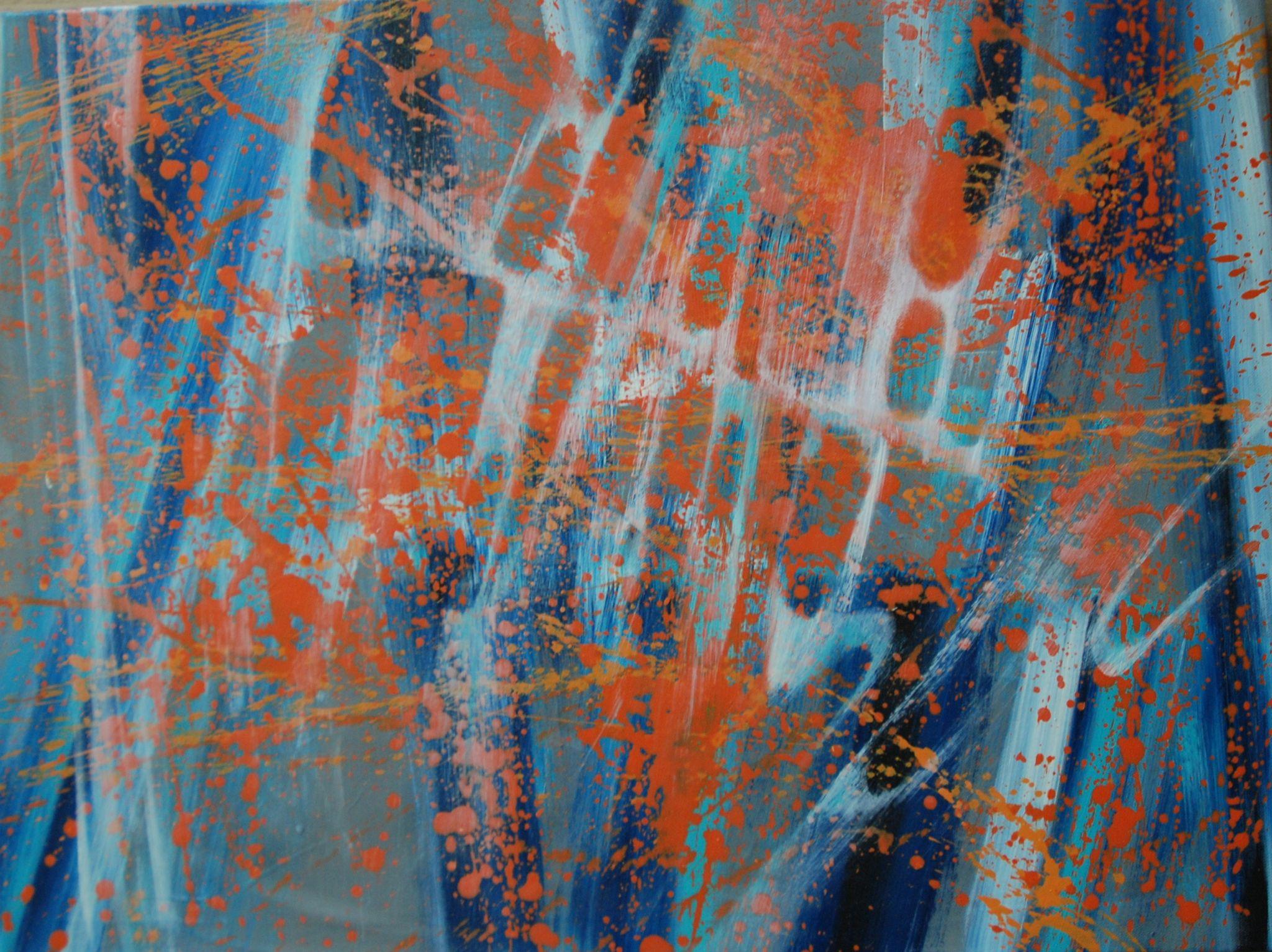 síť, 60/80 cm, 2013, akryl na plátně