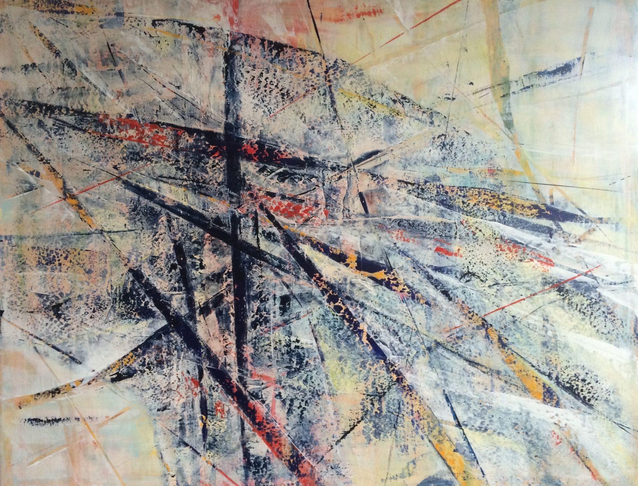 blízko rozuzlení, 120/100 cm, 2015, akryl na plátně