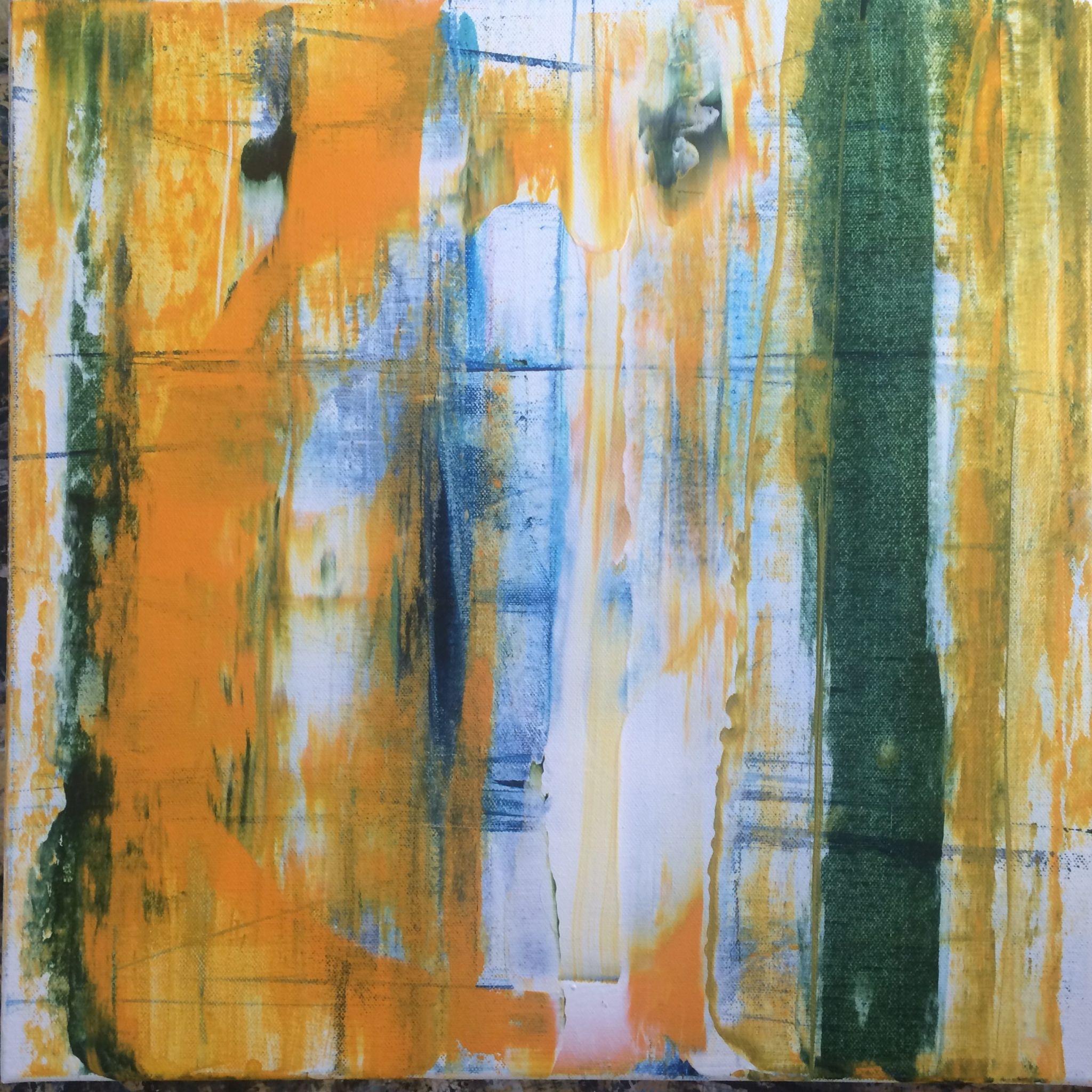 oko, 50/50 cm, 2016, akryl na plátně