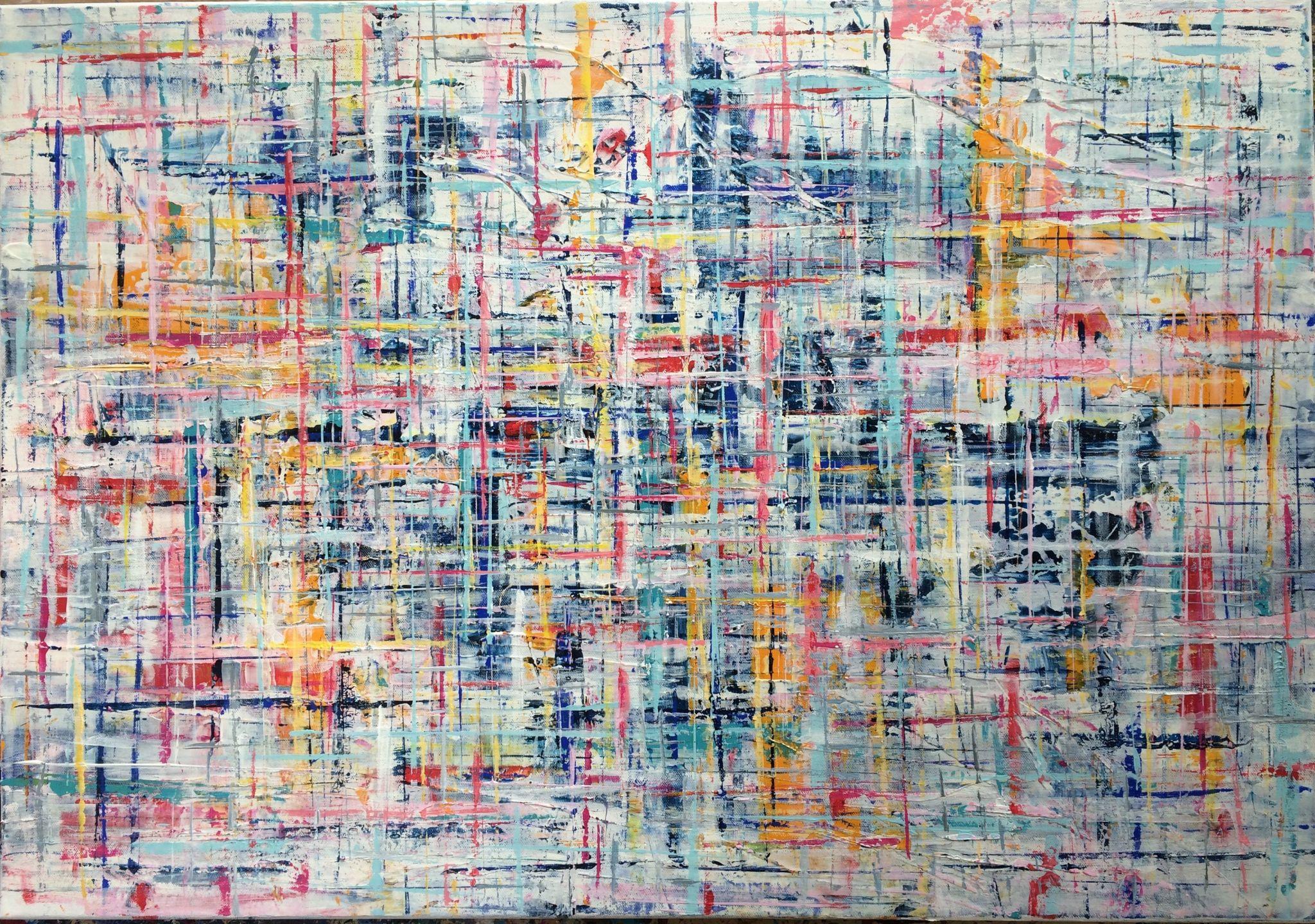 jasno, 70/100 cm, 2016, akryl na plátně