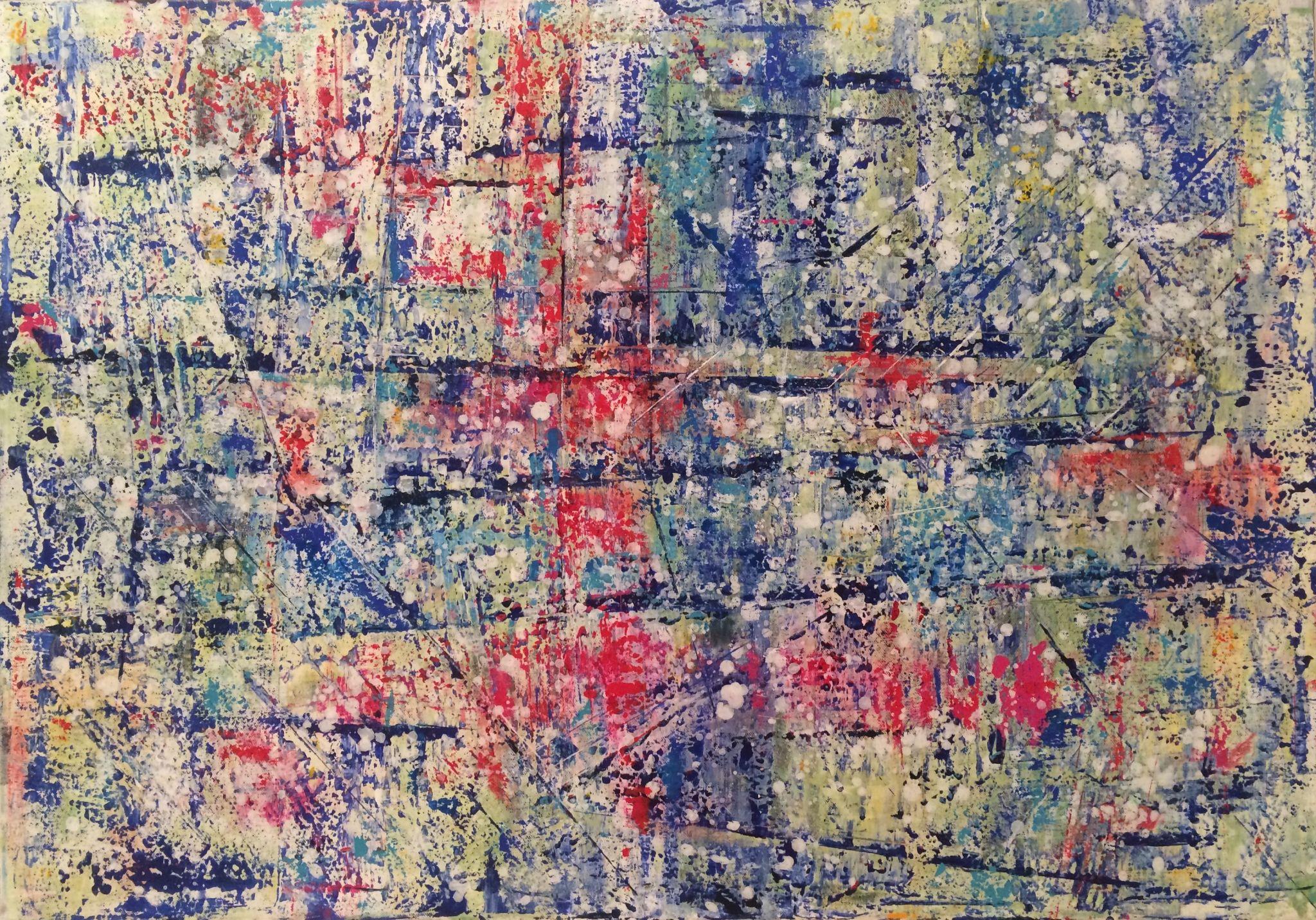 70/100 cm, 2016, akryl na plátně