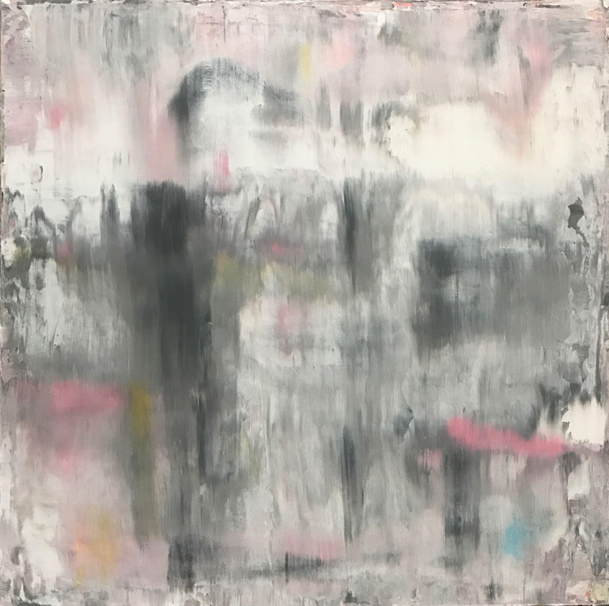 setkání, 50/50 cm, 2017, akryl na plátně